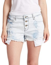 Lee Cooper Acid Wash Cutoff Shorts Cotton Candy Blue