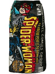 Olympia Le Tan Spider Woman Embroidered Skirt Cotton Sequin Glass Multicolour