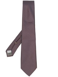 Canali Medallion Print Tie Brown