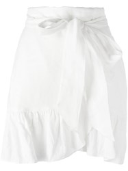 Etoile Isabel Marant Ruffled Mini Skirt White