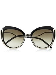 Karl Lagerfeld Piping Sunglasses Black