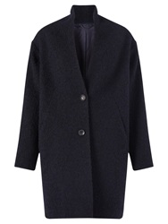 Jigsaw Textured Boucle Coat Navy