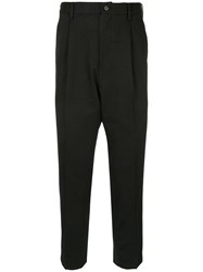 Loveless Drop Crotch Tailored Trousers Black