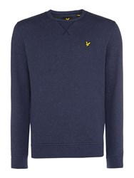 Lyle And Scott Men's Brushed Fleck Crew Neck Sweatshirt Navy