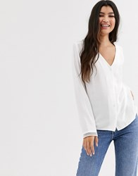 Pimkie Button Front Blouse In White