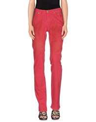 Jeckerson Denim Denim Trousers Women Fuchsia