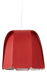 Lzf Domo Suspension Lamp Red Large Incandescent Multicolor