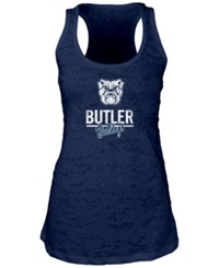 Blue 84 Women's Butler Bulldogs Racerback Burnout Tank Top Navy