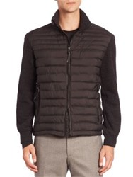 Strellson Four Seasons Knitted And Quilted Isocloud Jacket Black