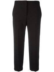 Theory Cropped Cigarette Trousers Black