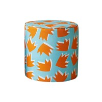Sunny Todd Prints Spring Toddstool 45 X 45 Cm Pale Turquoise And Orange