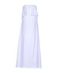 La Camicia Bianca 3 4 Length Dresses White
