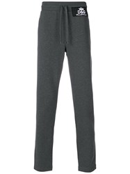 Dolce And Gabbana Logo Patch Track Pants Grey