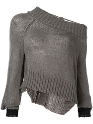 Taylor Situation One Shoulder Sweater Grey