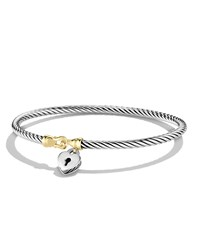 Cable Collectibles Heart Lock Bracelet With Gold David Yurman Silver Gold