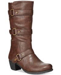 Easy Street Shoes Easy Street Barlow Mid Calf Boots Women's Shoes Brown