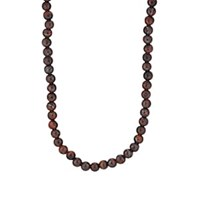 Barneys New York Tiger's Eye Beaded Necklace Red
