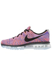 Nike Performance Flyknit Max Cushioned Running Shoes Photo Blue Black