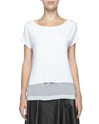Robert Rodriguez Double Layer Short Sleeve Top Small