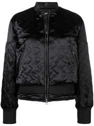 Tom Ford Quilted Satin Bomber Jacket Black