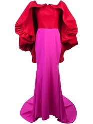 Christian Siriano Cape Detail Gown Pink