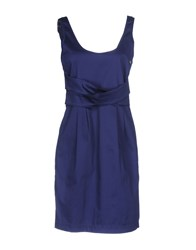 Scee By Twin Set Short Dresses Dark Blue