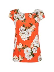 Wallis Petite Orange Floral Shell Top