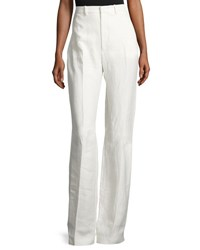 Joseph Ferguson Linen Twill Wide Leg Pants Off White