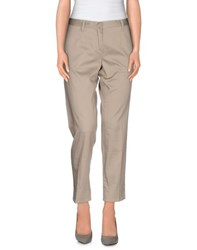 Scee By Twin Set Trousers Casual Trousers Women Light Grey