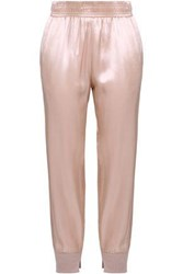 Enza Costa Woman Cashmere Trimmed Satin Track Pants Baby Pink
