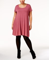 Styleandco. Style Co. Plus Size Short Sleeve Swing Dress Only At Macy's Pale Raspberry