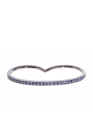 Roberto Marroni Sapphire And Oxidised White Gold Double Ring