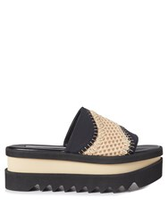 Stella Mccartney Wave Mesh Platform Slides Black Nude