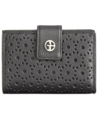 Giani Bernini Softy Perforated Wallet Only At Macy's Black Black