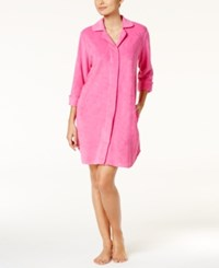 Charter Club Snap Front Terry Robe Only At Macy's Divine Berry