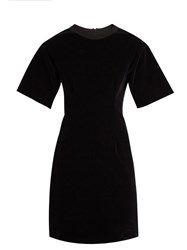 Maison Martin Margiela Short Sleeved Velvet Mini Dress Black