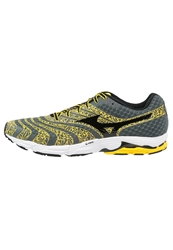 Mizuno Wave Sayonara 2 Lightweight Running Shoes Turbulence Black Cyber Yellow Grey