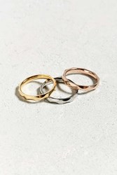 Urban Outfitters Tritone Ring 3 Pack Multi