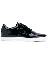 Dsquared2 Tux Sneakers Men Calf Leather Rubber 43 Black