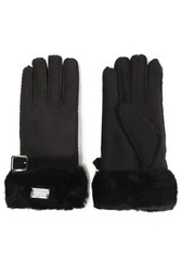 Australia Luxe Collective Buckled Shearling Gloves Black