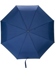 Moschino Pinstriped Umbrella Blue