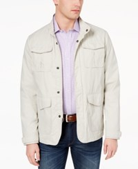 Tasso Elba Men's Four Pocket Jacket Stone Wall