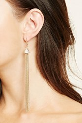 Forever 21 Chain Fringe Duster Earrings