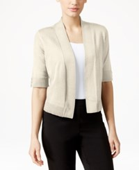Jm Collection Cropped Open Front Cardigan Only At Macy's Stone