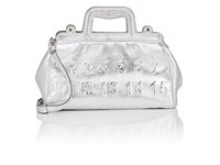 Maison Martin Margiela Small Leather Doctor's Bag Silver