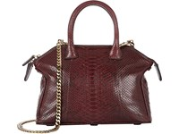 Zagliani Women's Python Mini Tomodachi Crossbody Burgundy
