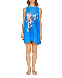 Ted Baker Deluca Harmony Tunic Swim Cover Up Bright Blue
