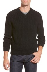 Men's Bonobos Chunky Rib V Neck Sweater Grey