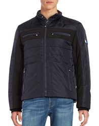 Vry Wrm Long Sleeve Quilted Jacket Winter Navy