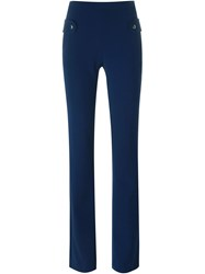 Carven Flared High Waist Trousers Blue